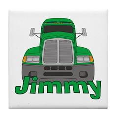 Trucker Jimmy Tile Coaster