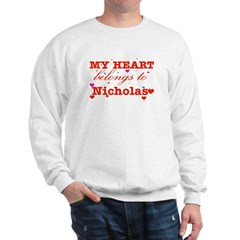 I love Nicholas Sweatshirt