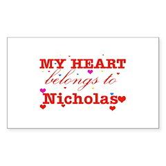 I love Nicholas Decal