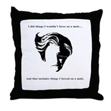 Force on a Mule Throw Pillow