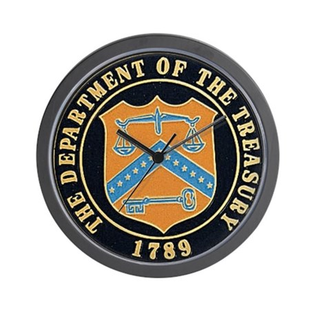 Department Of The Treasury Wall Clock