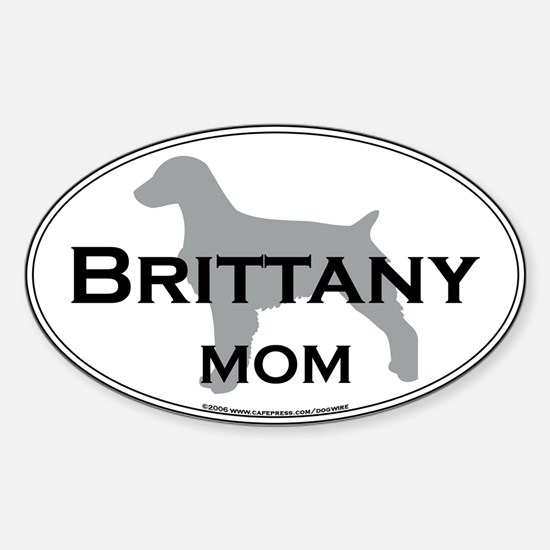Brittany MOM Oval Decal