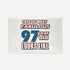 Cool 97 year old birthday designs Rectangle Magnet