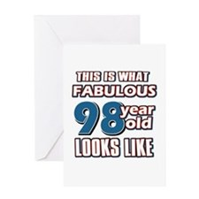 Cool 98 year old birthday designs Greeting Card
