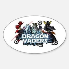 Dragon Vaders Sticker (Oval)