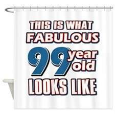Cool 99 year old birthday designs Shower Curtain