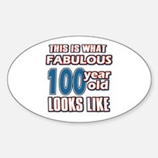 Cool 100 year old birthday designs Decal