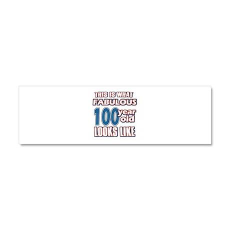 Cool 100 year old birthday designs Car Magnet 10 x