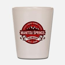 Manitou Springs Red Shot Glass