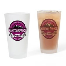 Manitou Springs Raspberry Drinking Glass