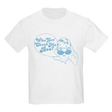 2-Who Gon Check Me Boo-Blue T-Shirt