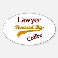 lawyer Powered by coffee Decal