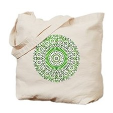 green heart fourth chakra mosaic circle Tote Bag