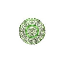 green heart fourth chakra mosaic circle Mini Butto