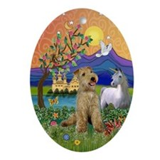 Lakeland Terrier Fantasy Oval Ornament
