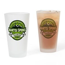 Manitou Springs Green Drinking Glass