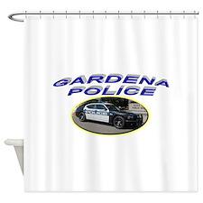Gardena Police Car Shower Curtain