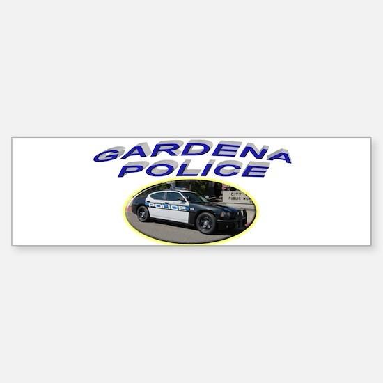 Gardena Police Car Sticker (Bumper)