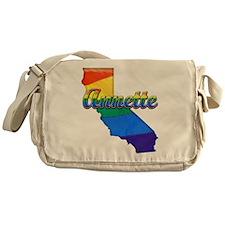 Annette, California. Gay Pride Messenger Bag