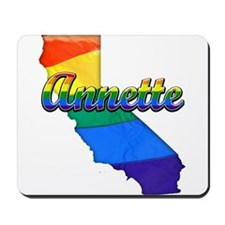 Annette, California. Gay Pride Mousepad