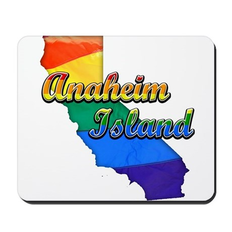 Anaheim Island, California. Gay Pride Mousepad
