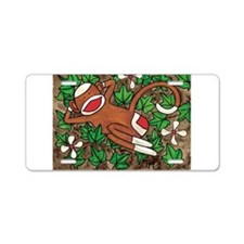 Ivy Sock Monkey Aluminum License Plate