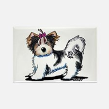 Biewer Yorkie Girl Rectangle Magnet (100 pack)