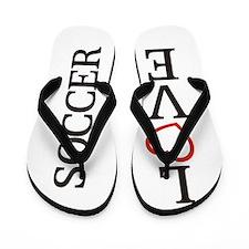 Big LOVE Soccer Flip Flops