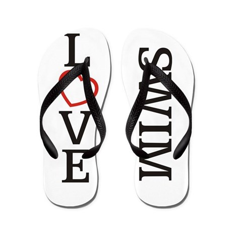 Big LOVE Swim Flip Flops
