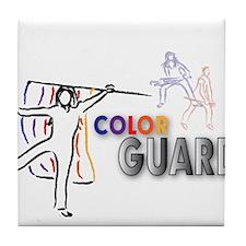 Cute Color guard flag Tile Coaster
