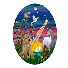 Lakeland Terrier Magical Night Oval Ornament