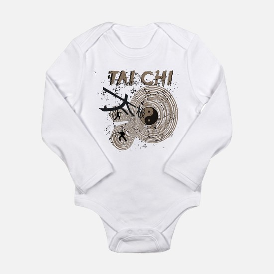 Abstract Tai Chi Long Sleeve Infant Bodysuit