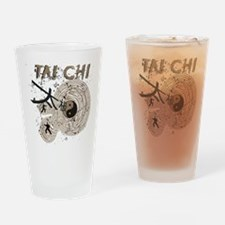 Abstract Tai Chi Drinking Glass