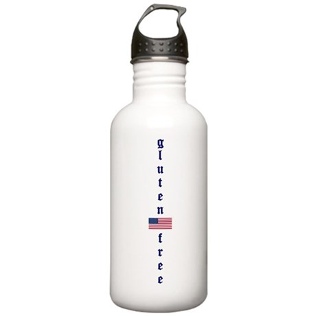 gluten-free (U.S. Flag) Stainless Water Bottle 1.0