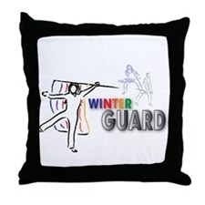 Cute Winter guard Throw Pillow
