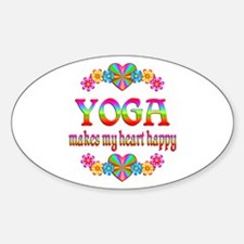 Yoga Happy Sticker (Oval)