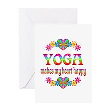 Yoga Happy Greeting Card