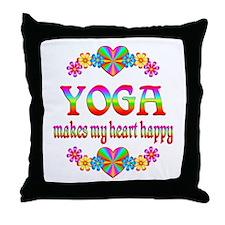 Yoga Happy Throw Pillow