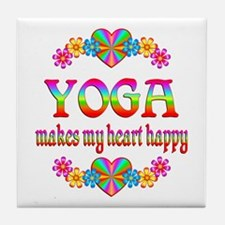 Yoga Happy Tile Coaster