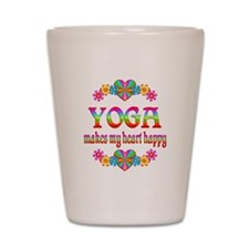 Yoga Happy Shot Glass