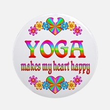 Yoga Happy Ornament (Round)
