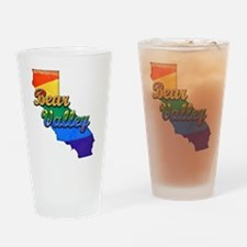 Bear Valley, California. Gay Pride Drinking Glass