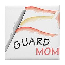 Unique Winter guard mom Tile Coaster