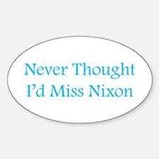 Miss Nixon Oval Decal