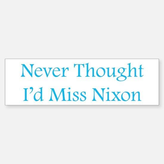 Miss Nixon Bumper Bumper Bumper Sticker