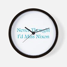Miss Nixon Wall Clock