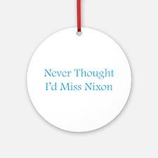 Miss Nixon Ornament (Round)