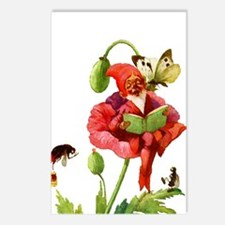 Poppy Gnome Postcards (Package of 8)