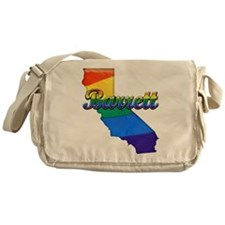 Barrett, California. Gay Pride Messenger Bag