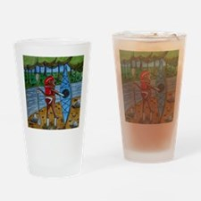 Kayak Sock Monkey Drinking Glass
